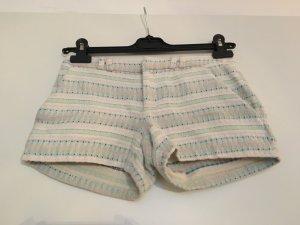 Sale! Boho Hotpants weiß gestreift und bestickt von Promod, Größe 32