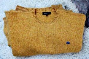 Burberry Kraagloze sweater donkergeel Wol