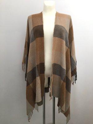 SALE! Cape / Poncho im Burberry-Stil: Camel- und Grautöne