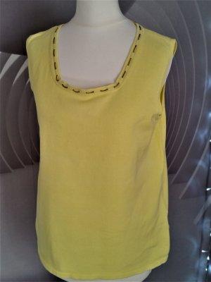 Sale! Carlo Colucci Strickshirt L 42 Feinstrick Gelb