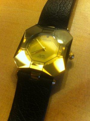 Sale:chice SWISSDesigner Uhr, neu, Vintagemodell, Rarität, ungetragen!, Rauchquarzartig crystal
