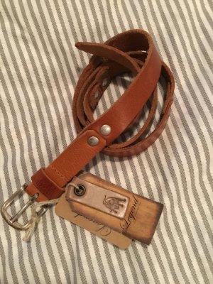 SALE  - Cognacfarbener Echtledergürtel Länge 95 cm