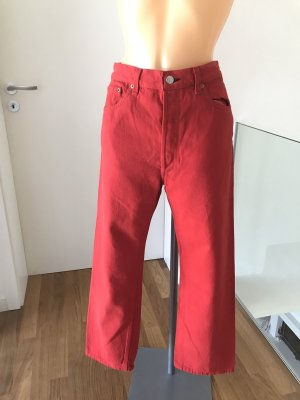 Levi's High Waist Jeans red cotton