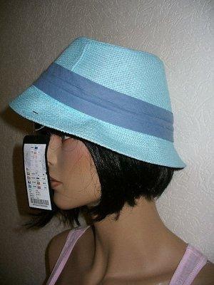 Sale! Cooler Kopf bewahren! Sommerhut Pastell Blau L Neu!