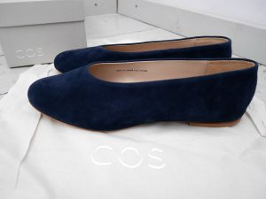COS Slip-on Shoes dark blue-blue leather