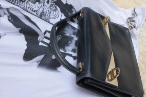 Carry Bag dark blue leather