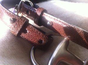 Leather Belt purple