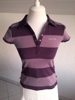 Sale%% edeles QS s.Oliver Shirt/Poloshirt,Top,lila,Kurzarmshirt,gestreit,Gr.S/36