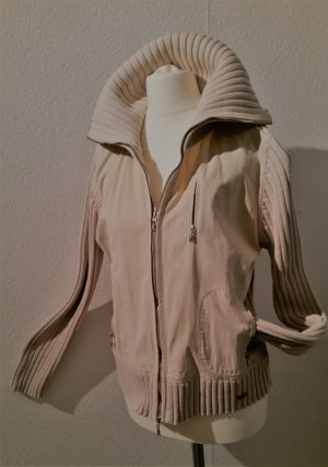 Sale! Esprit Strickjacke Beige Materialmix Gr. L 40