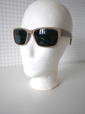 SALE! FIORUCCI: Sonnenbrille in Taupe / Holz-Optik