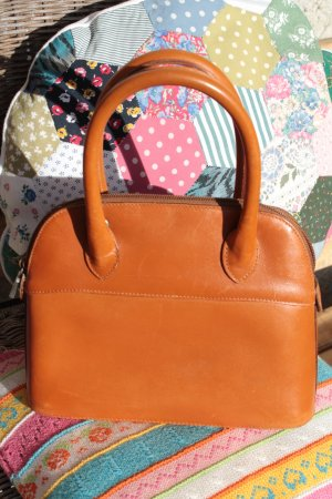 Furla Carry Bag dark orange leather