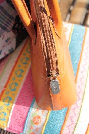 Furla Sac Baril orange foncé cuir
