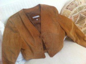 Folkloristische jas donker oranje-roodbruin