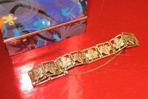 SALE:gold Glieder-Armband, hochkarätig vergoldet, 30er,Bestzustand