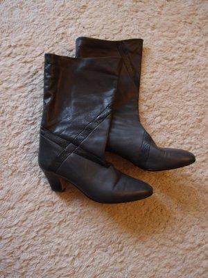 SALE - Graue Stiefel aus Leder