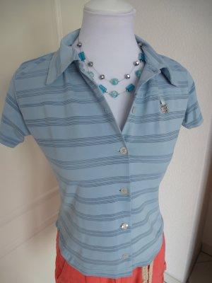 Sale%%hellblaue Bluse/Shirt von homeboy, Gr. M/38 - super schöne Form