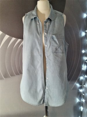 Sale!! Jeansbluse Perlen & Steine Gr. S Hollister Lyocell neuwertig