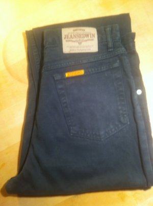 Carrot Jeans dark blue cotton
