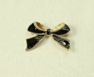 Kenneth Jay Lane Brooch black-gold-colored