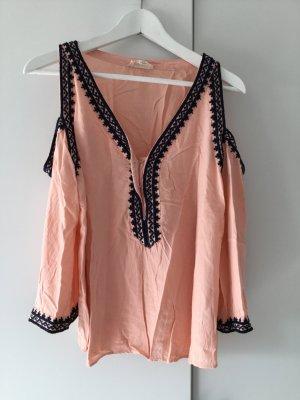 Tunique-blouse rosé-rose chair viscose