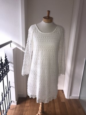 Vestido de encaje blanco-blanco puro