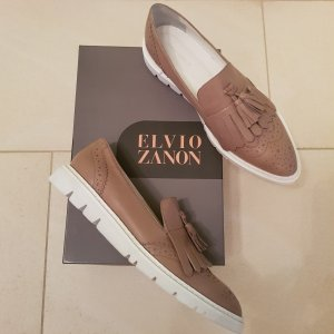 Elvio Zanon Slippers white-grey brown