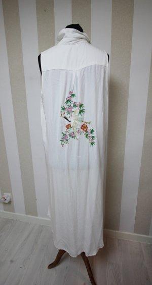 Long Knitted Vest white