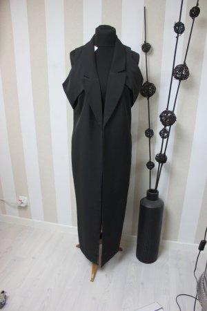 Long Knitted Vest black