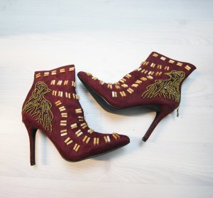 Sergio Todzi Zipper Booties bordeaux-gold-colored