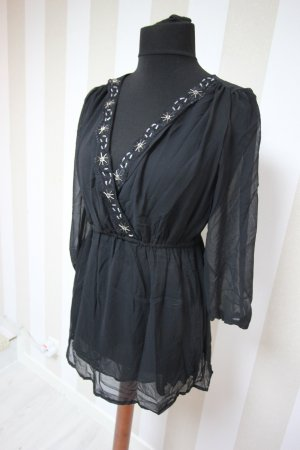 Shirt Tunic black-silver-colored