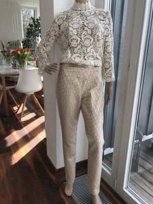 SALE!!! * LETZTER PREIS!!! * Wunderschöne leichte Hose mit Struktur-Muster * High-Waist
