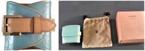 SALE% Louis Vuitton Blau,Lafayette Vernis Lackleder-Armband,Geldbörse,Münzfach