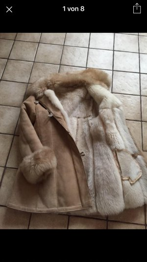 SALE!! Mantel aus echtem Lammfell