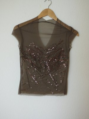 Lace Top green grey polyester