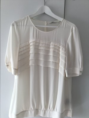 Mexx Short Sleeved Blouse natural white polyester