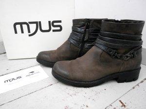 SALE! MJUS * 41 * Boots Hiker * Leder * Biker Boots * Grau * leicht gefüttert * TOP!