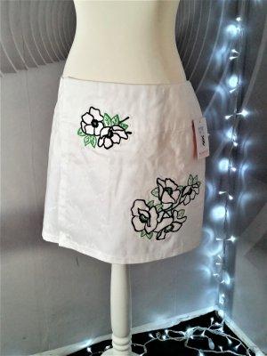 Falda cruzada blanco Algodón