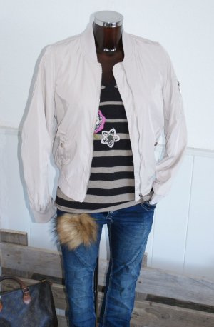 Giacca bomber beige Poliestere