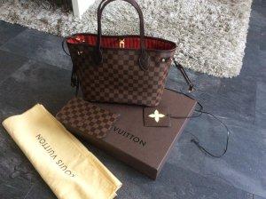 Sale***Neue Louis Vuitton Neverfull M PM Damier Tasche mit Pochette und Organizer