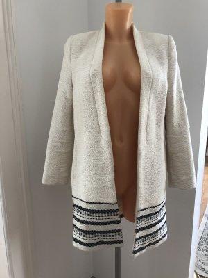 H&M Manteau mi-saison blanc cassé-noir