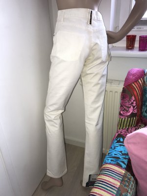Replay Jeans a vita alta bianco sporco Cotone