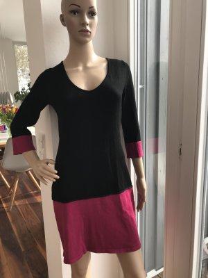 Laura Scott Abito di maglia nero-magenta Viscosa