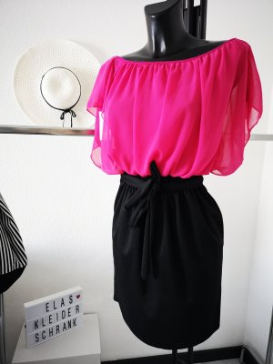 Vestido elástico negro-rosa