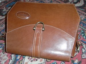 Crossbody bag cognac-coloured-brown leather