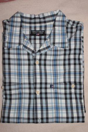 SALE!Polo by 'RALPH LAUREN' - Hemd, weiss/blau, XL neu , unisex
