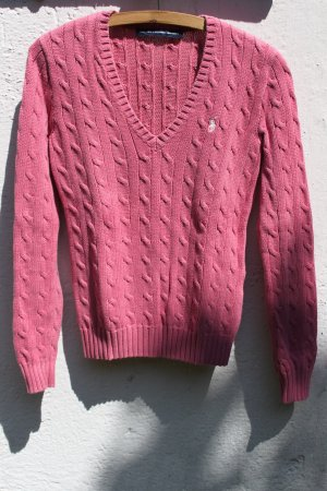 Polo Ralph Lauren Maglione intrecciato rosa Cotone