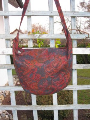 *SALE* *RED ANGEL UNIKAT* Designertasche  *NEU*  Softer Hobobag gefüttert