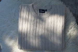 Sir Oliver Cable Sweater natural white cotton
