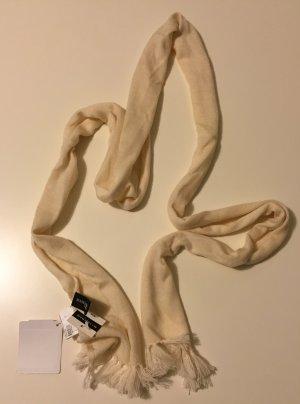 Sale! Schal aus Merinowolle, weiß, Neu mit Etikett, Mark Adam New York