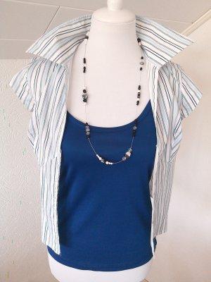 Sale%schickes Basic-Shirt in marine blau,Spaghetti-Top,Träger,Gr.S,36♥